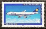 Sellos de Europa - Alemania -  Por el bienestar de la Juventud ( Boeing 747 1969, Lufthansa).