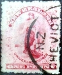 Stamps New Zealand -  Intercambio 0,20 usd 1 penny 1909