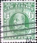 Sellos de Oceania - Nueva Zelanda -  Intercambio 0,55 usd 1/2 penny 1909