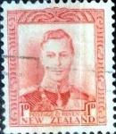 Sellos de Oceania - Nueva Zelanda -  Intercambio 0,20 usd 1 penny 1938