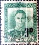 Sellos de Oceania - Nueva Zelanda -  Intercambio 0,20 usd 3 sobre 1 penny 1952