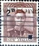 Stamps New Zealand -  Intercambio 0,20 usd 2 sobre 1,5 penny 1941