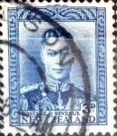 Stamps New Zealand -  Intercambio 0,20 usd 3 penny 1941
