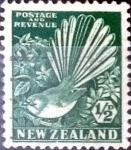 Sellos de Oceania - Nueva Zelanda -  Intercambio 0,35 usd 1/2 penny 1935
