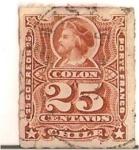 Sellos de America - Chile -  Colon 25c. ruleteado
