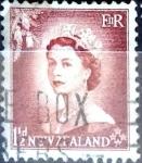 Sellos de Oceania - Nueva Zelanda -  Intercambio 0,20 usd 1,5 penny 1953