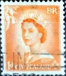 Sellos de Oceania - Nueva Zelanda -  Intercambio 0,20 usd 1 penny 1953