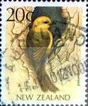 Sellos de Oceania - Nueva Zelanda -  Intercambio cxrf 0,20 usd 20 cent. 1988