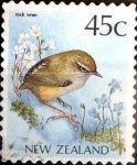 Stamps New Zealand -  Intercambio dm1g2 0,25 usd 45 cent. 1988