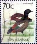 Stamps New Zealand -  Intercambio cxrf 0,75 usd 70 cent. 1985