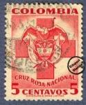 Stamps Colombia -  Cruz Roja Colombia 1951 - Beneficencia