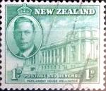 Sellos de Oceania - Nueva Zelanda -  Intercambio 0,20 usd 1 p. 1946