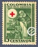 Sellos de America - Colombia -  Cruz Roja Colombia 1953 - Beneficencia