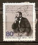 Sellos de Europa - Alemania -  175a Aniv de la muerte de Fritz Reuter (escritor).