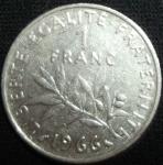 monedas de Europa - Francia -  1966 (Reverso)