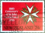 Stamps New Zealand -  Intercambio 0,20 usd 24 cent. 1985