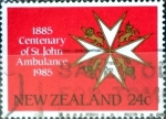 Stamps New Zealand -  Intercambio cr4f 0,20 usd 24 cent. 1985