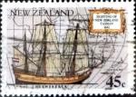 Stamps New Zealand -  Intercambio aexa 0,60 usd 45 cent. 1992