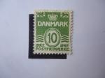 Sellos de Europa - Dinamarca -  Cifras - (M/328)