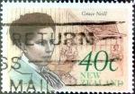 Sellos de Oceania - Nueva Zelanda -  Intercambio 0,55 usd 40 cent. 1990