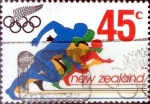 Stamps New Zealand -  Intercambio 0,60 usd 45 cent. 1992