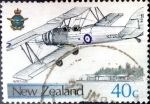 Sellos de Oceania - Nueva Zelanda -  Intercambio aexa 0,60 usd 40 cent. 1987
