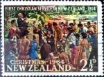 Sellos del Mundo : Oceania : Nueva_Zelanda : Intercambio crf 0,20 usd 2,5 p. 1964