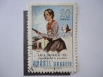 Stamps Brazil -  Anita Garibaldi -  Sesquicentenario de su Nacimiento (1821-1971)