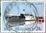 Stamps New Zealand -  Intercambio 0,20 usd 24 cent. 1984