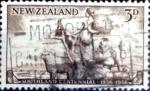 Sellos de Oceania - Nueva Zelanda -  Intercambio 0,20 usd 3 p. 1956
