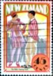 sello : Oceania : Nueva_Zelanda : Intercambio crf 0,50 usd 45 cent. 1992