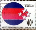 Stamps : Oceania : New_Zealand :  Intercambio aexa 0,65 usd 40 cent. 1989