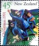 Sellos de Oceania - Nueva Zelanda -  Intercambio crxf 0,60 usd 45 cent. 1991