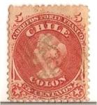 Stamps Chile -  Colon / PRIMERA SERIE DENTADA 1867