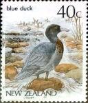 Sellos de Oceania - Nueva Zelanda -  Intercambio 0,20 usd 40 cent. 1985
