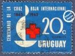 Sellos del Mundo : America : Uruguay : Centenario de la Fundación de la Cruz Roja Internacional 1863-1963