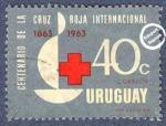 Sellos de America - Uruguay -  Centenario de la Fundación de la Cruz Roja Internacional 1863-1963