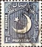 Sellos del Mundo : Asia : Pakistán : Intercambio 0,65 usd 1 A. 1950