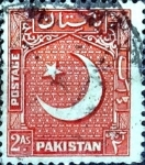 Stamps : Asia : Pakistan :  Intercambio 0,20 usd 2 A. 1949