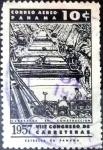 Stamps : America : Panama :  Intercambio cxrf 0,20 usd 10 cent. 1957