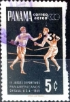 Stamps : America : Panama :   3 sobre 5 cent. 1966