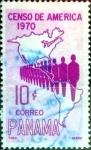 Stamps : America : Panama :  Intercambio cxrf 0,20 usd 10 cent. 1969