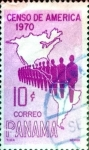 Stamps : America : Panama :  Intercambio 0,20 usd 10 cent. 1969