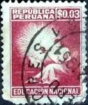 Sellos de America - Perú -  Intercambio 0,20 usd 3 cent. 1950