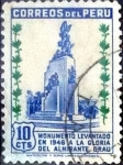 Stamps : America : Peru :  Intercambio 0,20 usd 10 cent. 1949