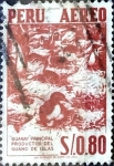 Stamps : America : Peru :  Intercambio 0,20 usd 80 cent. 1960