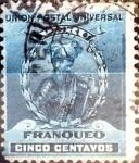 Stamps : America : Peru :  Intercambio 0,20 usd 5 cent. 1896