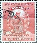 Sellos de America - Perú -  Intercambio 0,20 usd 2 cent. 1899