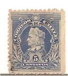 Stamps Chile -  NAPOLEONES 5.(sin dentar a un costado).