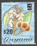 Sellos del Mundo : America : Guyana : Flor bixa orellana